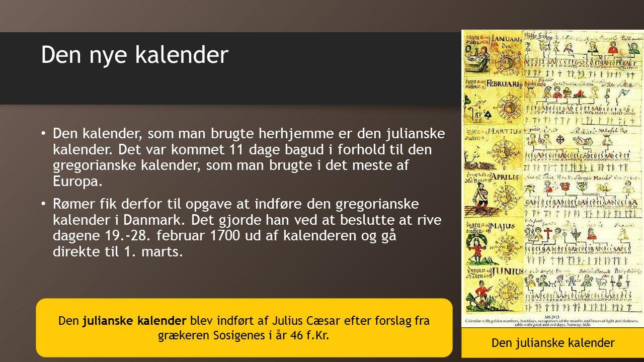 Den julianske kalender