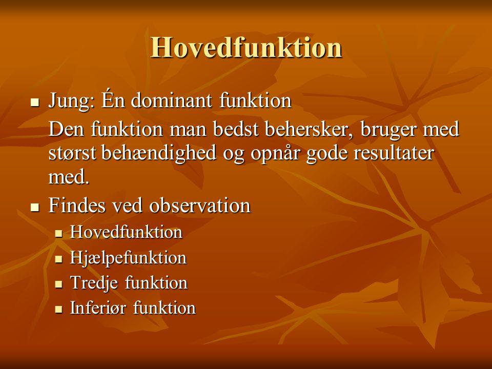 Hovedfunktion Jung: Én dominant funktion