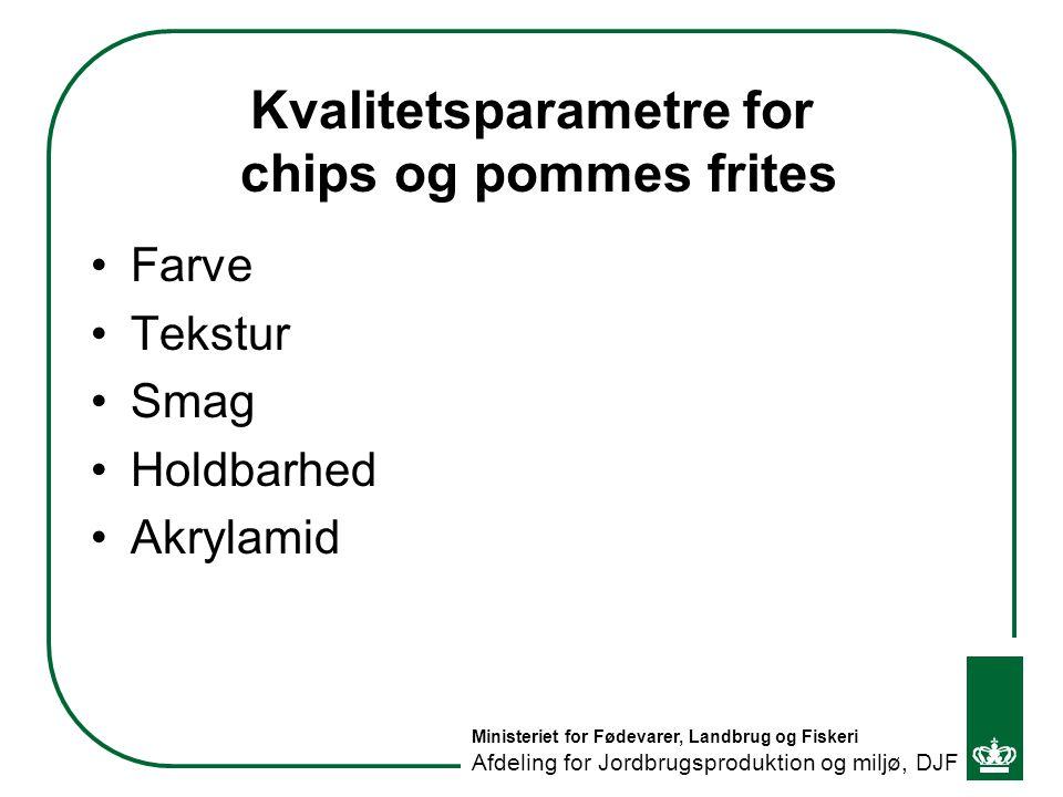 Kvalitetsparametre for chips og pommes frites