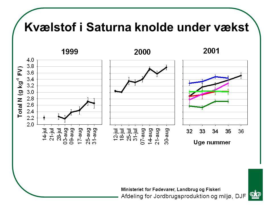 Kvælstof i Saturna knolde under vækst