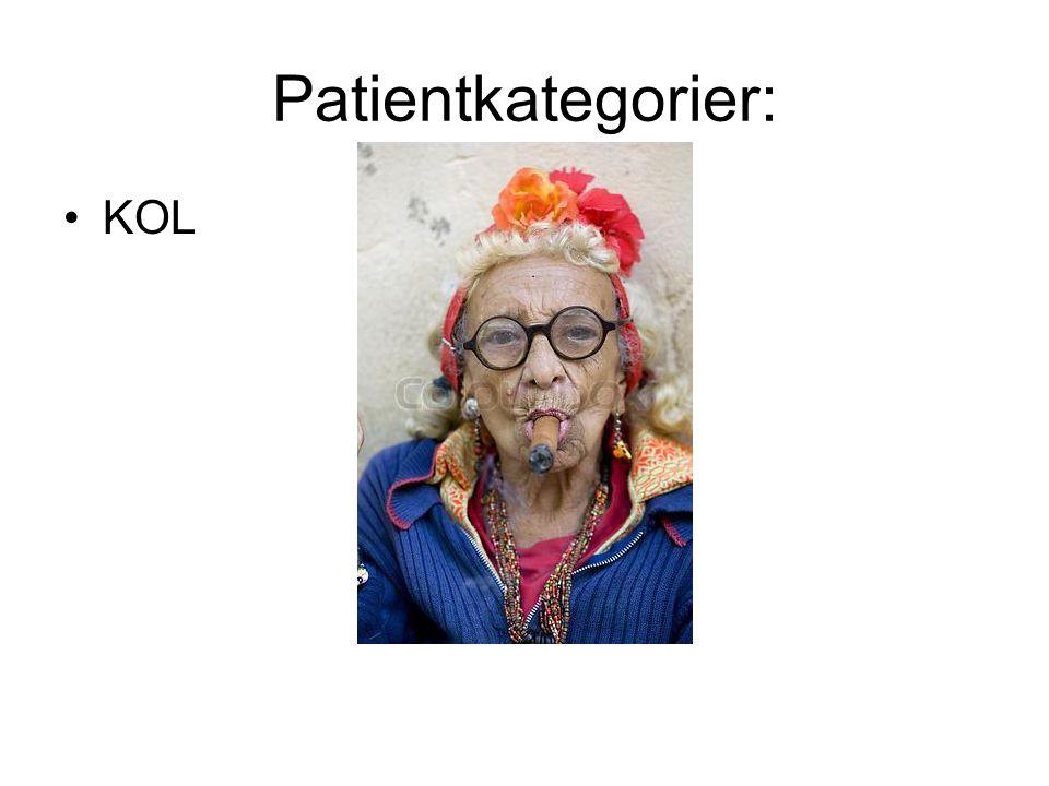 Patientkategorier: KOL Opblussen i kol