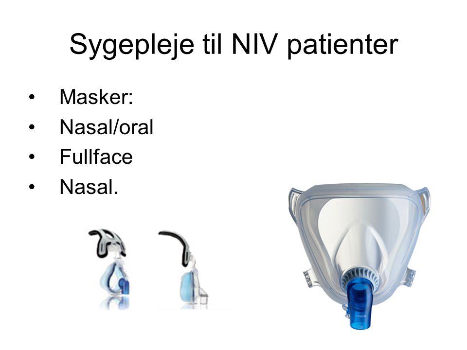 Sygepleje til NIV patienter