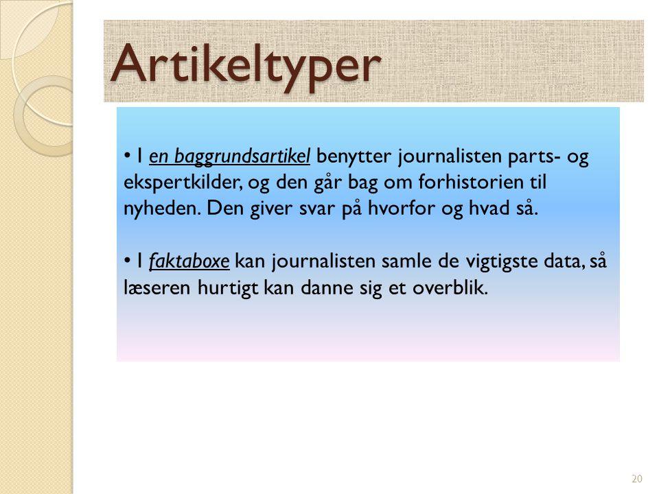 Artikeltyper