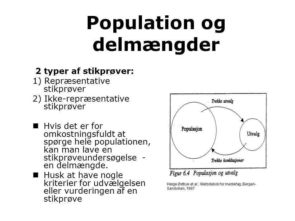 Population og delmængder
