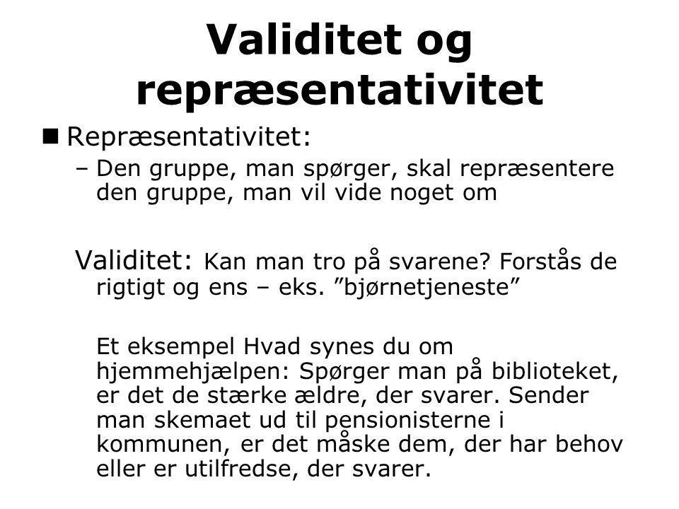 Validitet og repræsentativitet