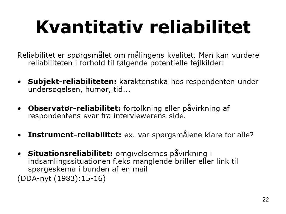 Kvantitativ reliabilitet