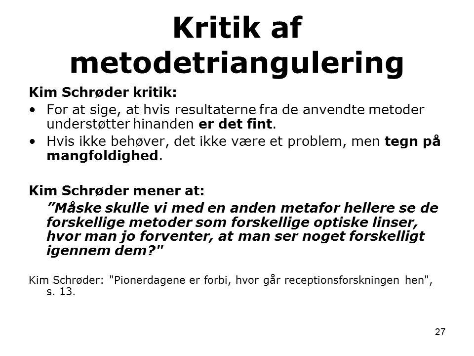Kritik af metodetriangulering