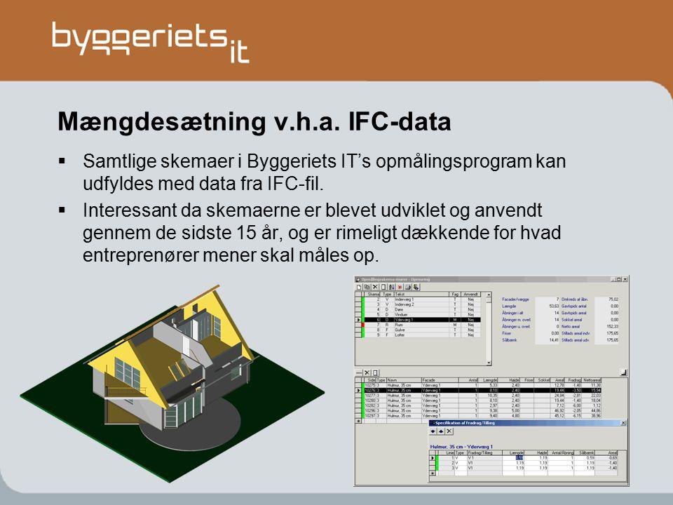 Mængdesætning v.h.a. IFC-data