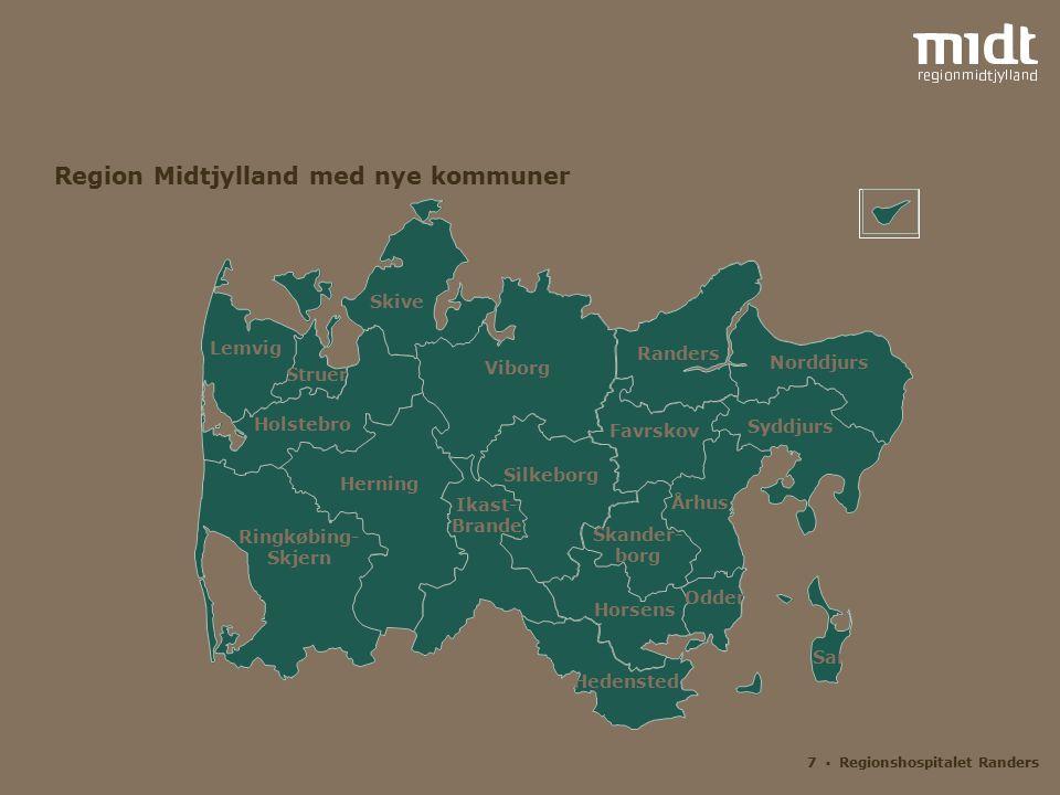 Region Midtjylland med nye kommuner