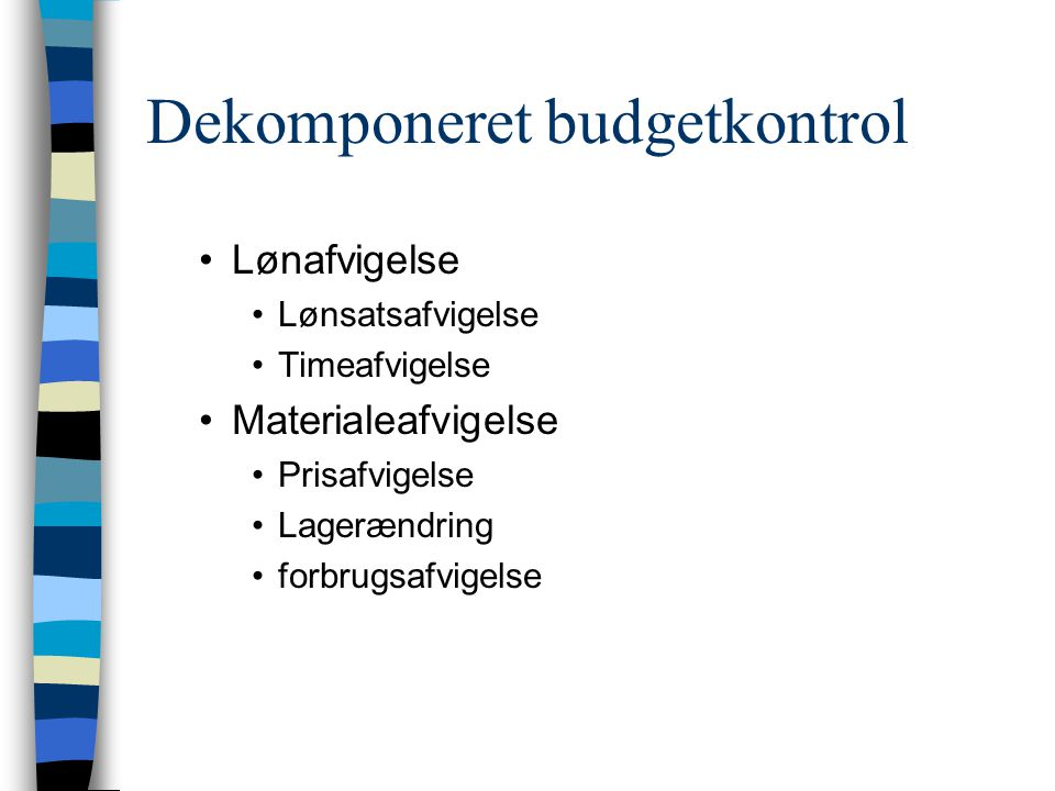 Dekomponeret budgetkontrol