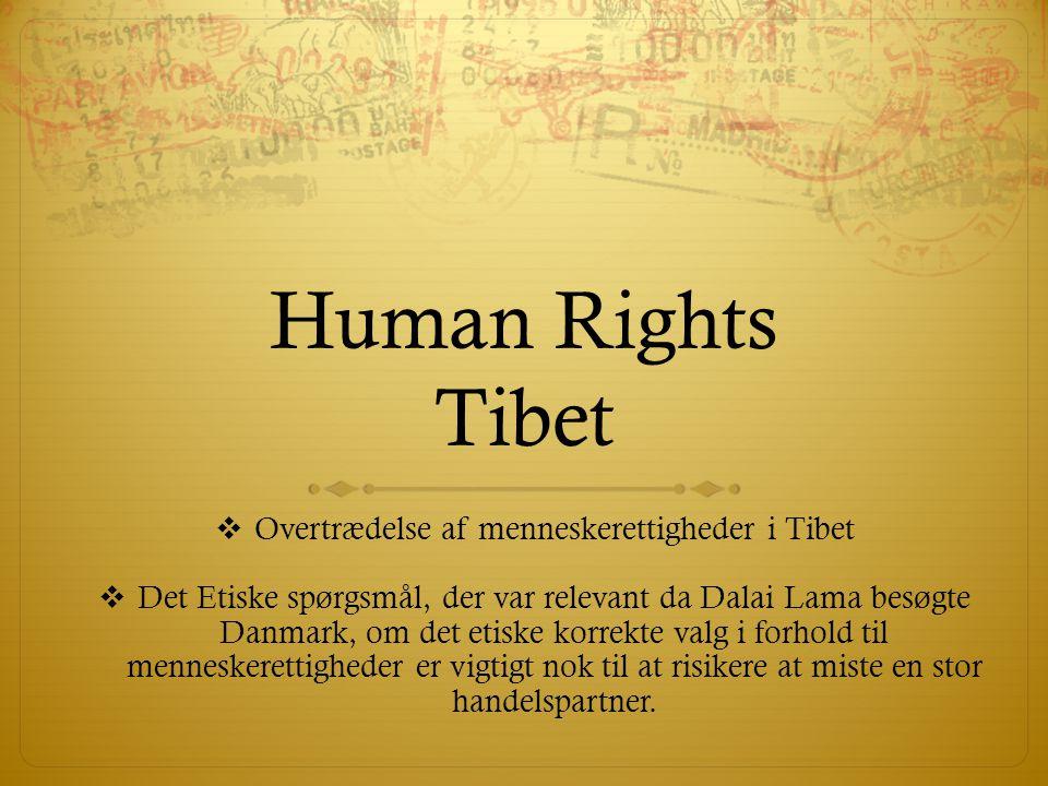 Overtrædelse af menneskerettigheder i Tibet