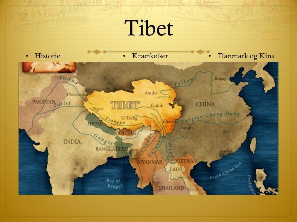 Tibet Historie Krænkelser Danmark og Kina