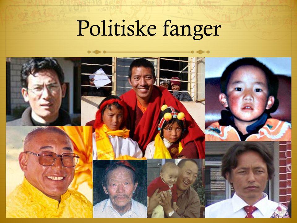 Politiske fanger Fortæl om diverse personer, der sidder i fængsel.