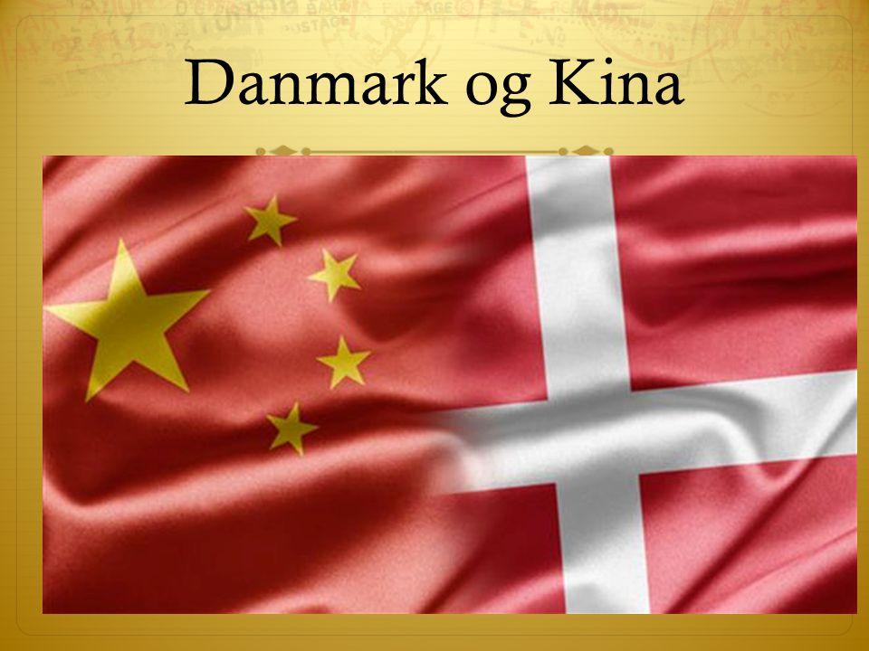 Danmark og Kina Dette afsnit handler om forholdet mellem Kina og Danmark, mest fokuseret på handel.