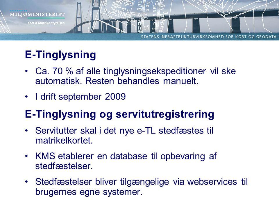 E-Tinglysning og servitutregistrering