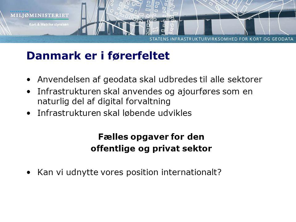 Danmark er i førerfeltet