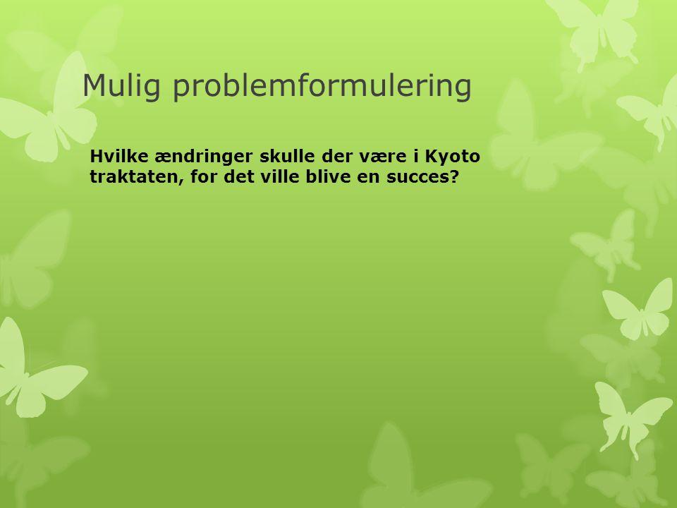 Mulig problemformulering
