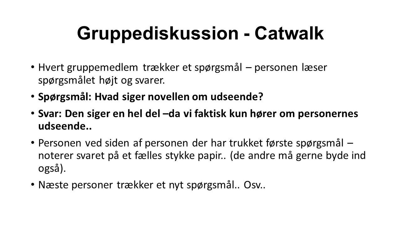 Gruppediskussion - Catwalk