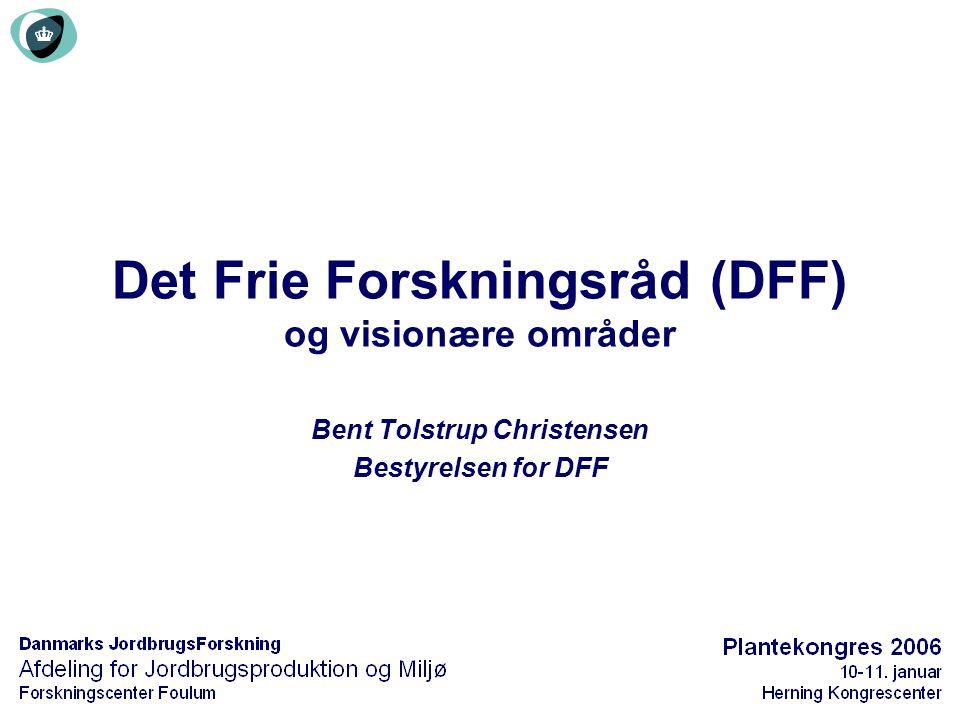 Det Frie Forskningsråd (DFF) og visionære områder