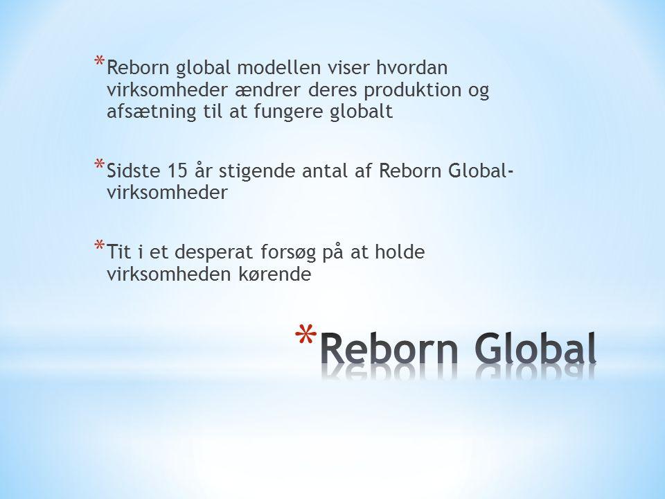 Reborn global modellen viser hvordan virksomheder ændrer deres produktion og afsætning til at fungere globalt