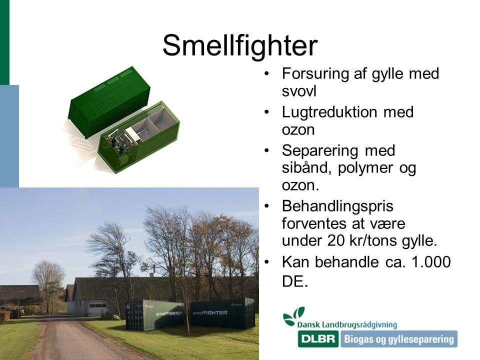 Smellfighter Forsuring af gylle med svovl Lugtreduktion med ozon
