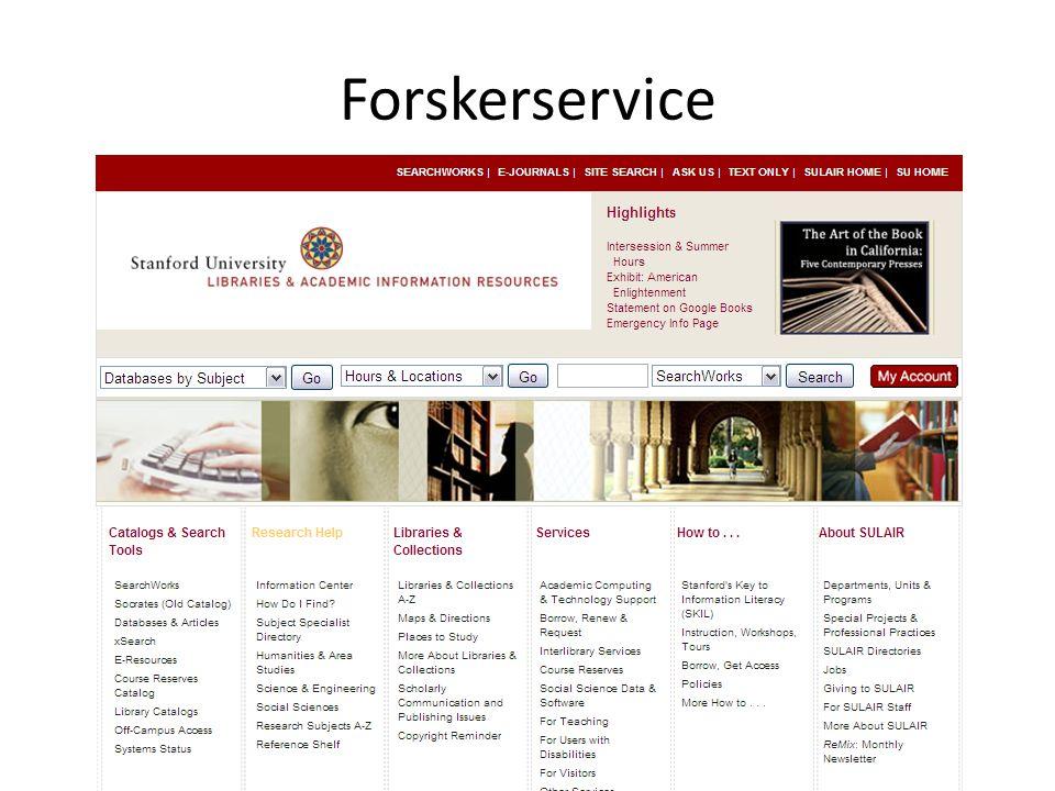 Forskerservice VRE – også på programmet for DEFF