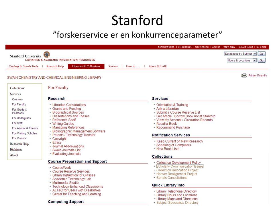 Stanford forskerservice er en konkurrenceparameter