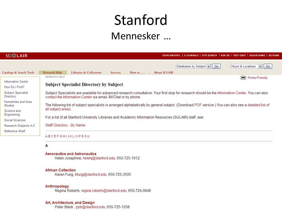 Stanford Mennesker …
