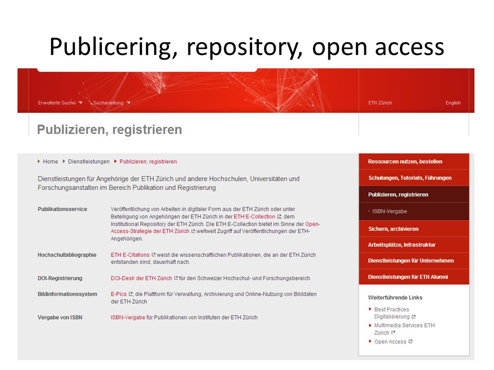 Publicering, repository, open access