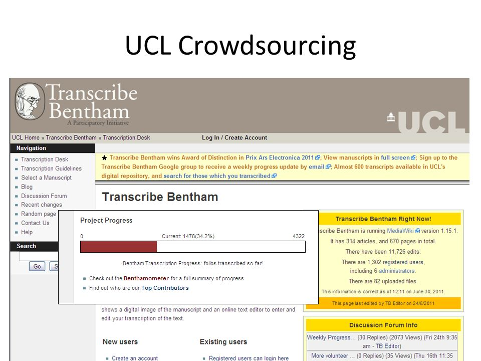 UCL Crowdsourcing
