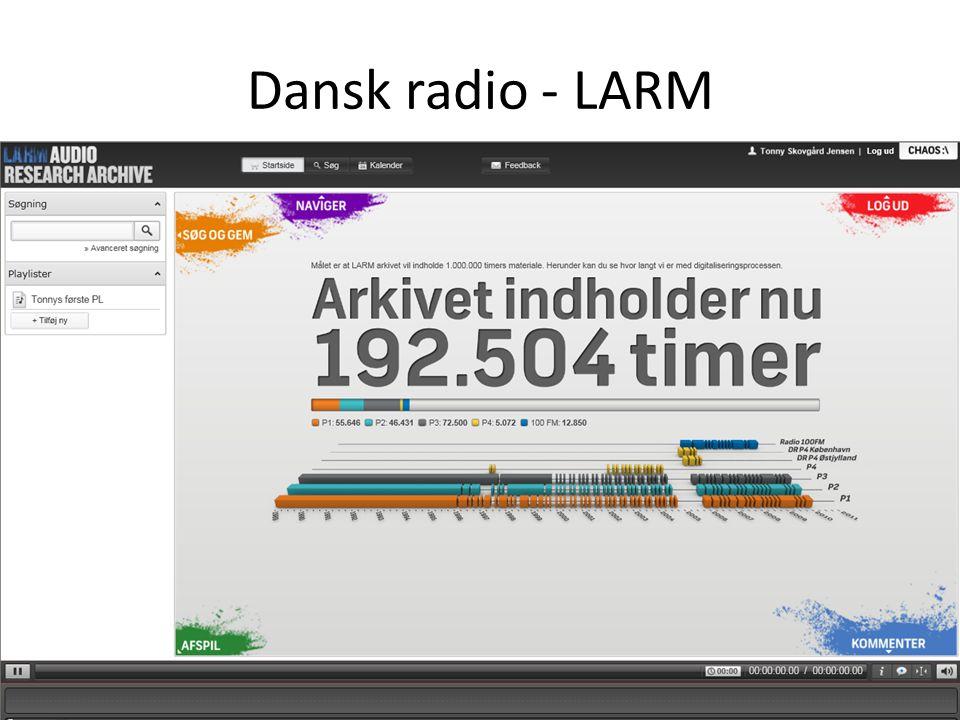 Dansk radio - LARM Aviser - Mediestream