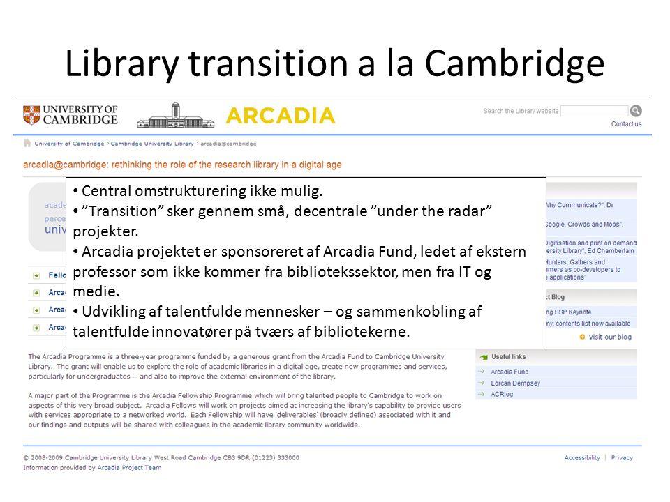 Library transition a la Cambridge