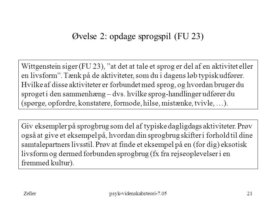 Øvelse 2: opdage sprogspil (FU 23)