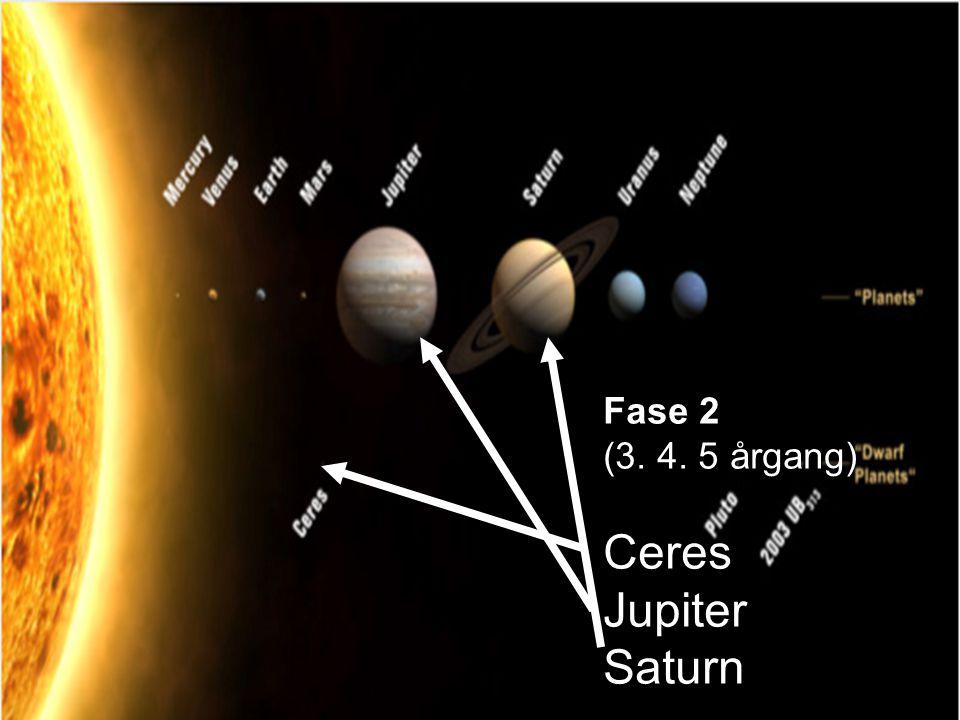 Fase 2 (3. 4. 5 årgang) Ceres Jupiter Saturn