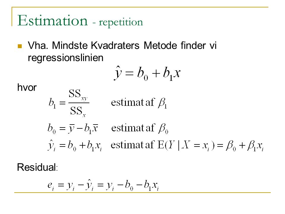 Estimation - repetition