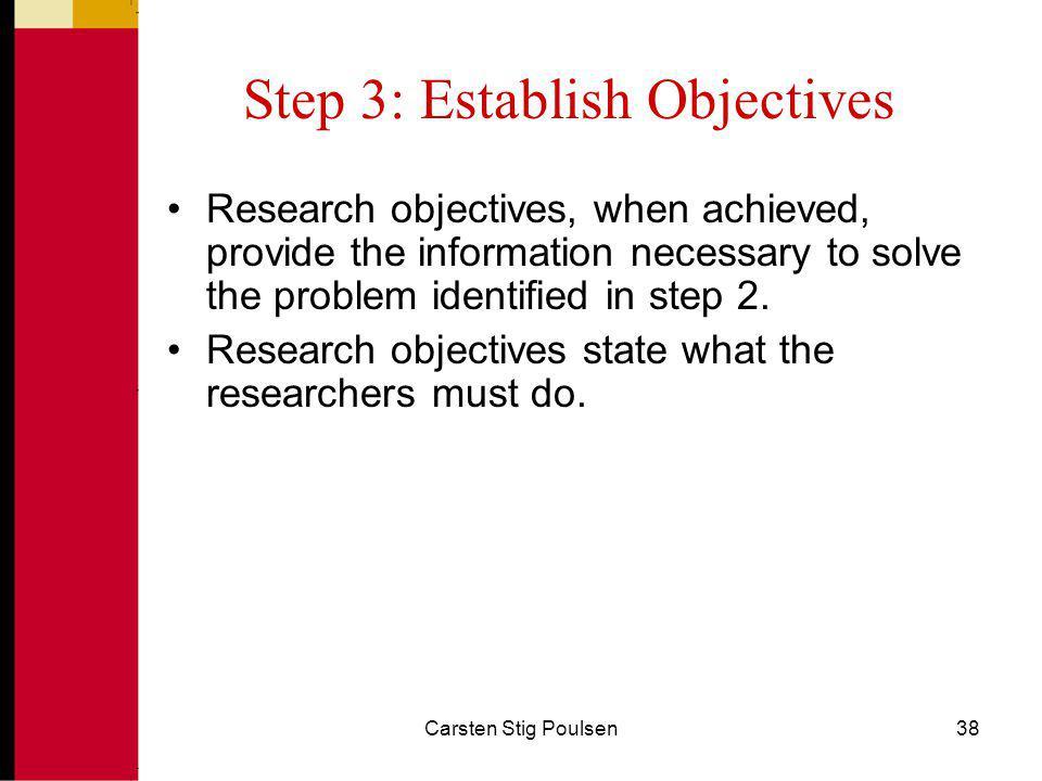 Step 3: Establish Objectives