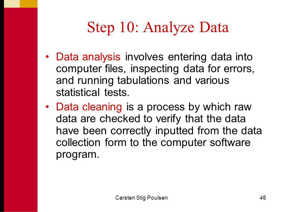 Step 10: Analyze Data