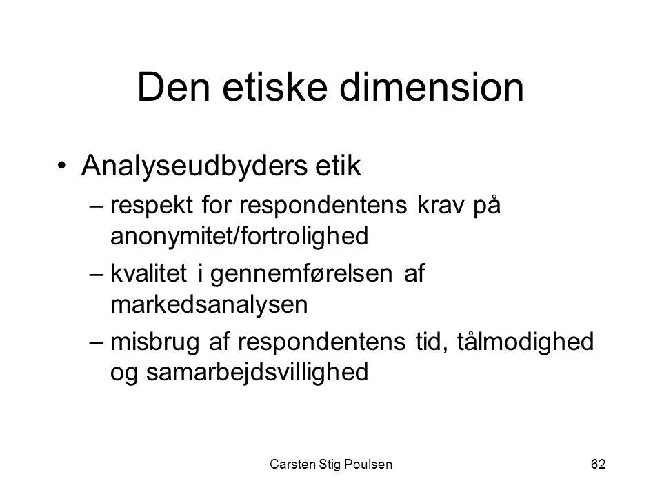 Den etiske dimension Analyseudbyders etik