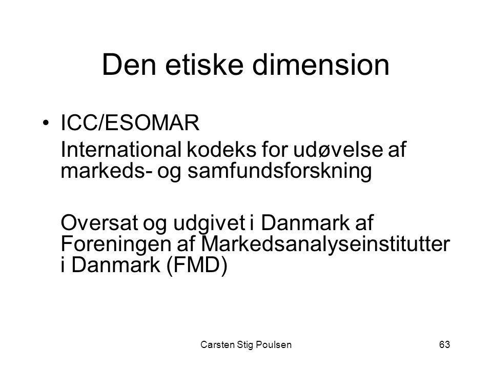 Den etiske dimension ICC/ESOMAR