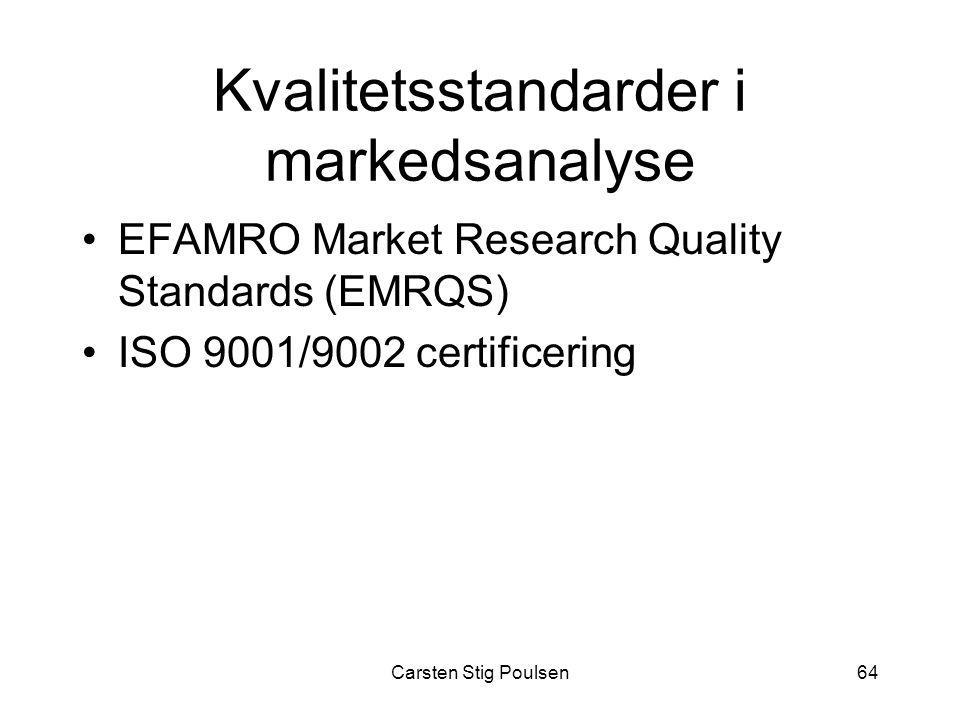 Kvalitetsstandarder i markedsanalyse