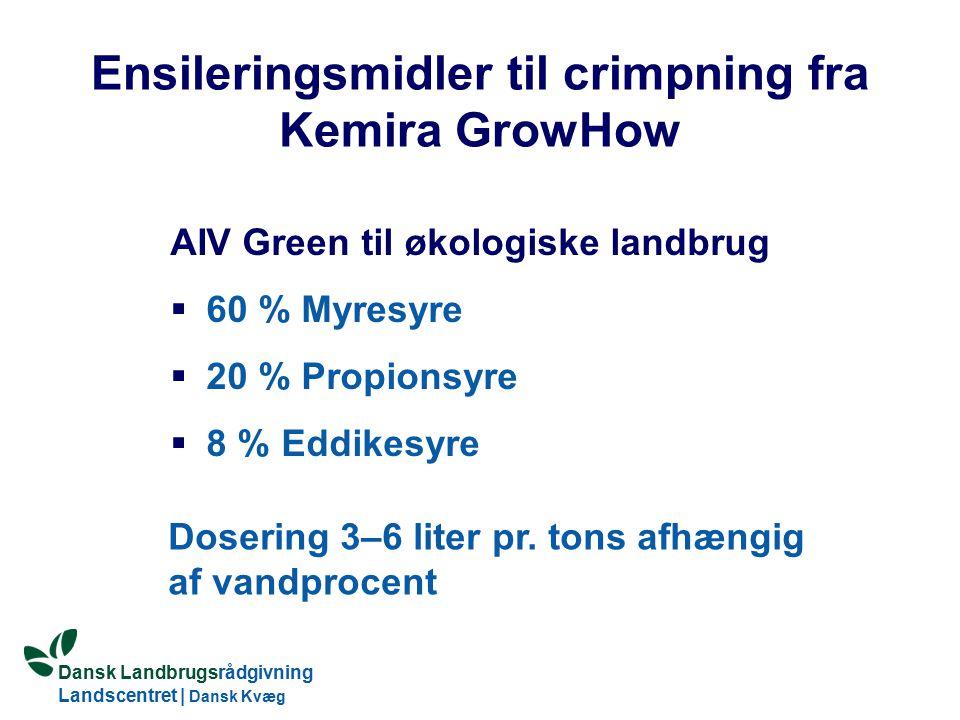 Ensileringsmidler til crimpning fra Kemira GrowHow