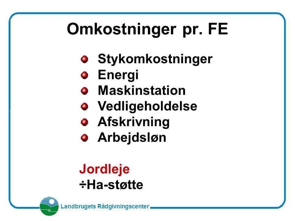 Omkostninger pr. FE Stykomkostninger Energi Maskinstation
