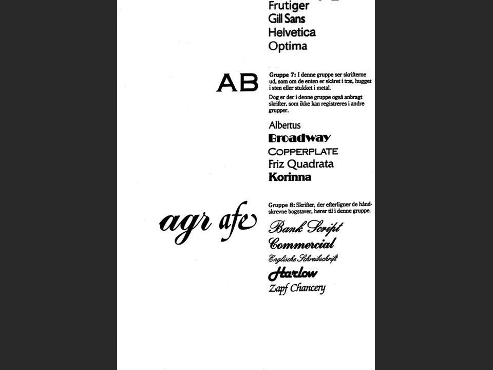 Klassiske skrifttyper