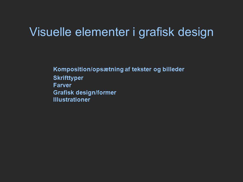 Visuelle elementer i grafisk design