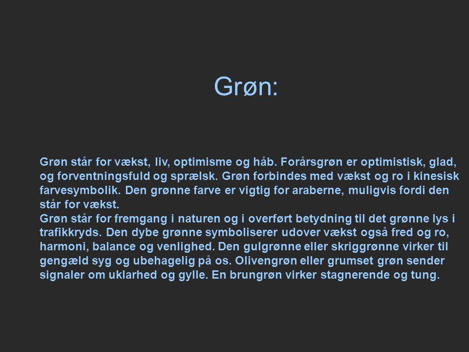 Grøn: