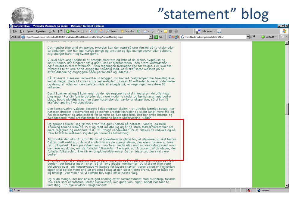 statement blog