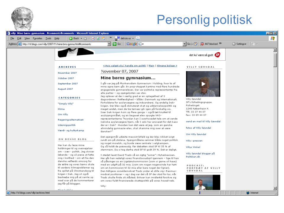 Personlig politisk