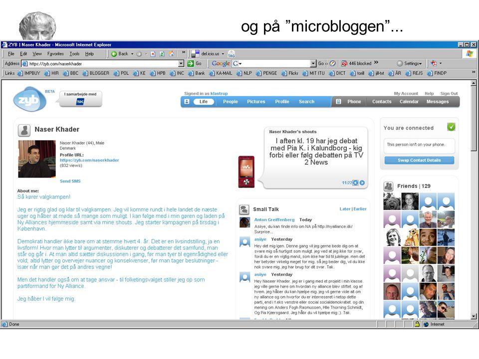 og på microbloggen ...
