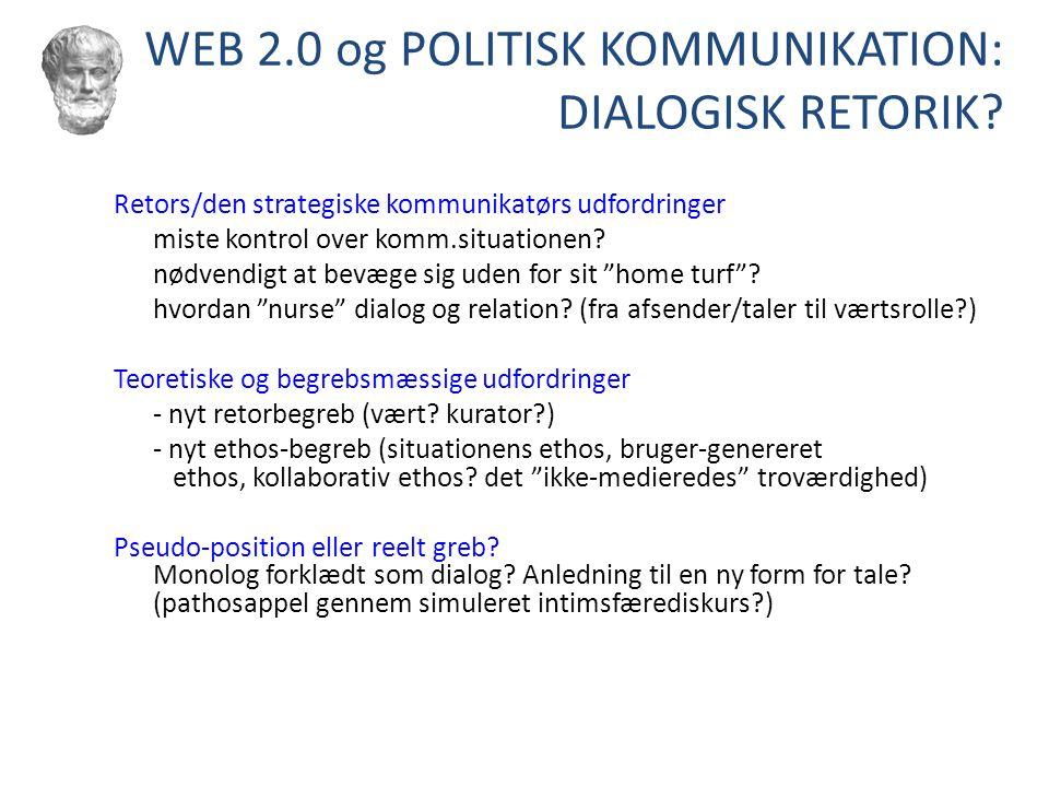 WEB 2.0 og POLITISK KOMMUNIKATION: DIALOGISK RETORIK