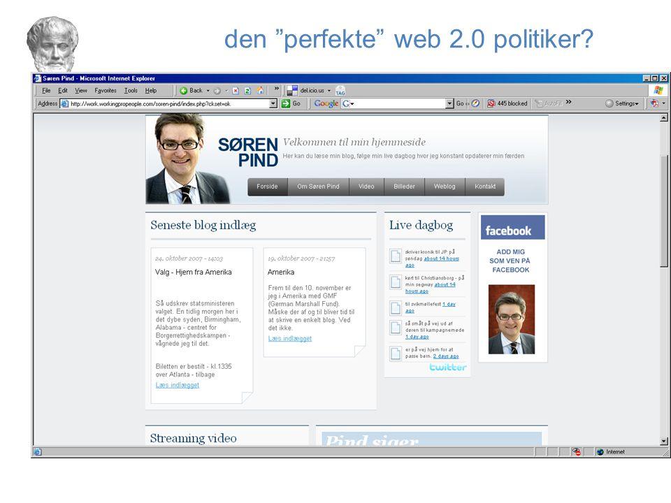 den perfekte web 2.0 politiker